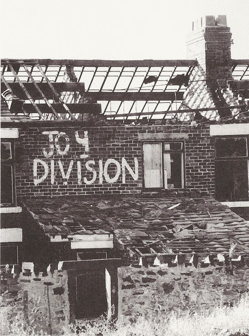 Joy Division street art, scanned from Unknown Pleasures, Inside Joy Division, by Peter Hook(1)